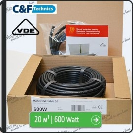20м¹ǀ600W C&F Black Cable